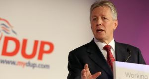 First Minister and DUP leader Peter Robinson said 'valuable progress' had been made in the dispute over flags and parades, despite a failure to agree to proposals tabled by US diplomat Dr Richard Haass  . Photograph: Paul Faith/PA Wire