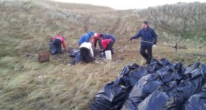 500 black bags of debris were collected at Lahinch.