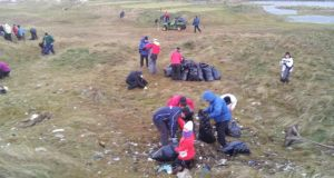 Clean-up operation at Lahinch Golf Club.