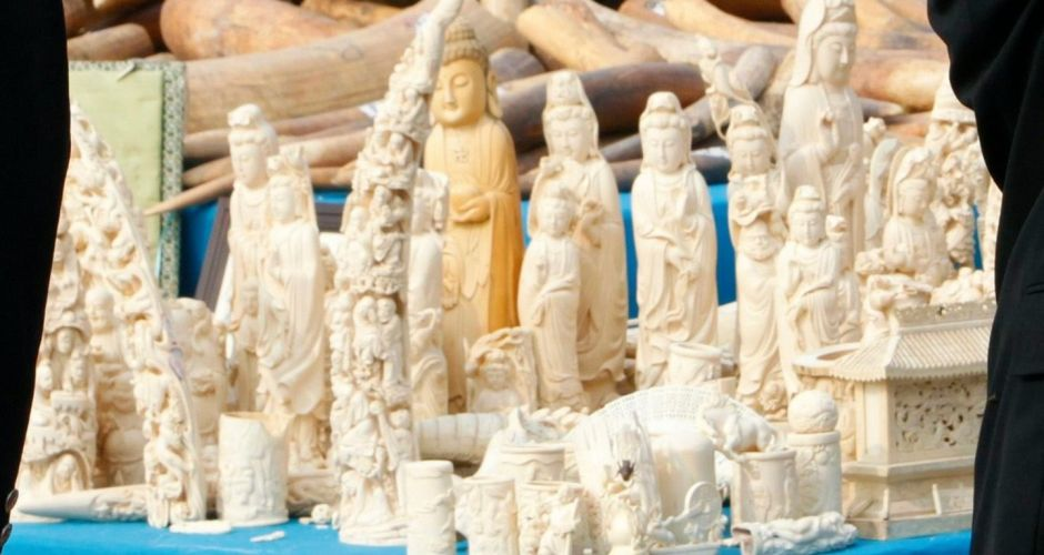 Ivory destroyed in China