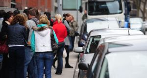 Unemployment fell back again in November, down to 12.4 per cent. Photograph: Aidan Crawley/The Irish Times