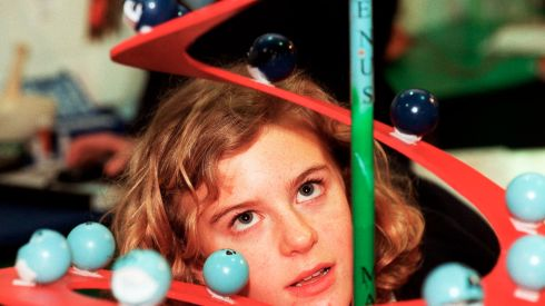 Lauren Norton, St Gerard's School, Wicklow, one of the exhibitors in 1999. Photograph: Eric Luke/The Irish Times