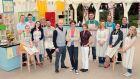 The Great Irish Bake Off contestants 2013 with (in front)  Paul Kelly,  Anna Nolan and Biddy White-Lennon