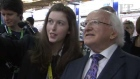 President Michael D Higgins opens Young Scientist Exhibition