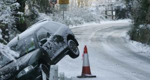 Device to warn on ice hazards. Photograph: Alan Betson