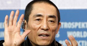 Chinese director Zhang Yimou during a news conference to promote a movie. Photograph: Tobias Schwarz/Files /Reuters