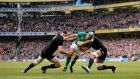 Ireland's Rory Best beats Luke Romano and Steven Luatua on his way to scoring a try against New Zealand last year. Photograph: James Crombie/Inpho