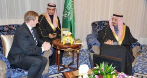 Our man in Riyadh: Enda Kenny with Salman bin Abdulaziz Al Saud (right), Saudi Arabia's deputy prime minister and minister for defence