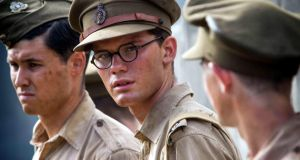 "Jeremy Irvine (centre) in The Railway Man. ""I was 17 and being rebellious. I wanted to piss off my parents. So I tried to join the army. I tried lying about my diabetes first"""