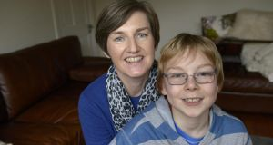 Emma Martin with her son, James (10), who has numerous allergies, at their home in Monkstown, Co Dublin. Photographs: Brenda Fitzsimons