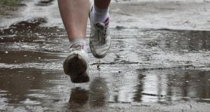 Running outdoors is only really treacherous when the wind is bad. Photograph: Getty Images