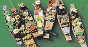 Amphawa floating market in Thailand. Photograph: Getty