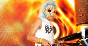 DJ Bl3nd spins during Winter Music Conference 2013 in Miami Beach, Florida. Photograph: Getty
