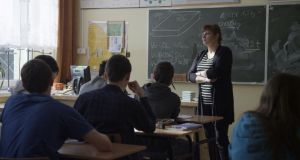 Blackboard jungle: For the RTE series Class Swap, pupils from Ireland attended school in Poland (above), Spain and Finland