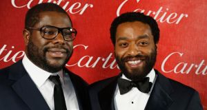 Chitewel Ejiofor with director Steve McQueen