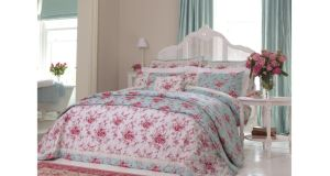 The spring blossom and birdsong pattern of Dorma's Mirabelle in 100 per cent cotton sateen with a 300 thread count will add a touch of spring to your bedroom's look. There is 50 per cent off the duvet covers and pillowcases at Arnotts, (01-8050400, arnotts.ie) Henry Street, Dublin 1. The double duvet cover, 200cm by 200cm, is reduced from €110 to €55; the king size, 230cm by 220cm, from €120 to €60, and superking size, 260cm by 220cm, from €130 to €65. Matching pillowcases were €25 each and are now €12.50. The bedspread in the set has been reduced from €195 to €97.50.