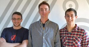 Working in tandem: CloudDock's (from left) Padraic Harley, Cian Brassil and Scott Kennedy are fine-tuning an adaptor service that will enable compatibility between cloud storage service providers