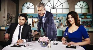 Ready, steady, bicker: Ludo Lefebvre, Anthony Bourdain and Nigella Lawson are the judges on The Taste