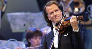 Andre Rieu: we might wish to ban his glutinous waltz-terrorism, along with stonewashed denim and mummy porn, but really we can't.