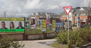 Posters in Clonsilla, west Dublin, during the 2009 local election campaign. Photograph: Brenda Fitzsimons