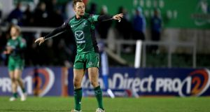 Connacht's Dan Parks: could join an elite ERC club. Photograph: James Crombie/Inpho