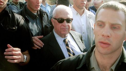 Arial Sharon paid a controversial visit to the holy compound in Jerusalem known as the Temple Mount to Jews and Haram al-Sharif to Muslims in 2000. The visit sparked Palestinian rioting and the beginning of the second intifada. Photograph: Getty