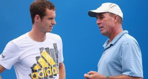 Andy Murray with coach Ivan Lendl in Melbourne for the Australian Open. Photograph: Quinn Rooney/Getty Images