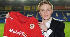 Cardiff City's new signing Mats Moller who has moved from Molde to the Welsh club. Photo: Pete Thomas/Cardiff City FC/PA
