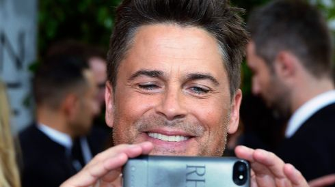 Rob Lowe arrives for the 71st Annual Golden Globe Awards at the Beverly Hilton, in Beverly Hills, California yesterday. Photograph: Paul Buck/EPA
