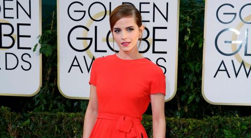 British actress Emma Watson pictured at the Golden Globes in California last night. Photograph: Paul Buck/EPA