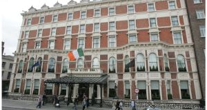 US investment group Kennedy Wilson is said to be acquiring loans tied to the Shelbourne Hotel in Dublin. Photograph: Alan Betson/The Irish Times