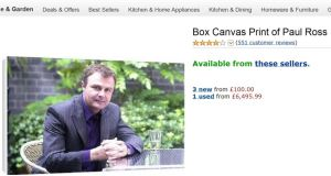 A box canvas print of Paul Ross, available on Amazon.co.uk