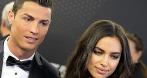 Cristiano Ronaldo arriving with  his wife  Irina Shayk   at the  Fifa Ballon d'Or 2013 gala   in Zurich, Switzerland. Photograph:  Walter Bieri/EPA