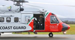 The new Coast Guard Sikorsky S92 helicopter for the East Coast region at the launch of the new helicopter at Weston Airport this morning. Photograph: Colin Keegan, Collins Dublin.
