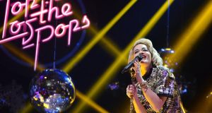 Rita Ora on Top of the Pops Christmas show in 2012