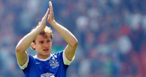 Nikica Jelavic, who looks set to complete his move to Hull later today. Photograph: Peter Byrne/PA Wire.