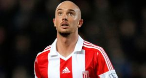 Stoke have announced the permanent signing of Stephen Ireland from Aston Villa. Photograph: Richard Sellers/PA Wire