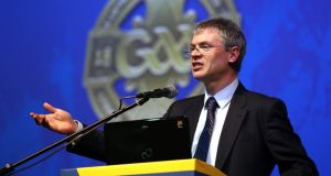 Derry All-Ireland winner and television pundit Joe Brolly gave his insight to the GAA's annual Games Development Confrence at Croke Park. Photograph: Lorcan Doherty/Inpho.