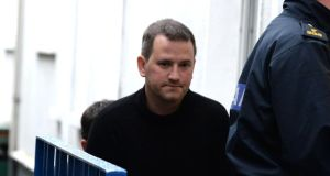 A file image of  Graham Dwyer being brought to court in Dun Laoghaire last year.  Photograph: Cyril Byrne/The Irish Times