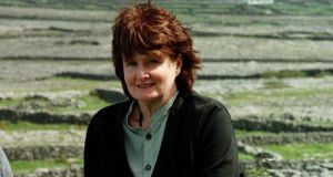 Eavan Boland at Dún Eochla on Inis Mór for the Aran Islands Poetry Festival. Photograph: Joe O'Shaughnessy.