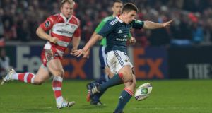 Ian Keatley in action for Munster against Gloucester last weekend, a performance Rob Penney thinks was his best for the province. Photograph: Tony Marshall/Getty Images.