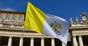A Vatican flag in Rome. Today's session in Geneva may produce some awkward moments for the Vatican delegation, which could be called on to answer specific questions about infamous sex abuse cases, including Irish ones. Photograph: Gabriel Bouys/AFP/Getty Images