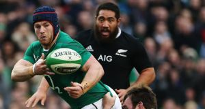 Ireland flanker Sean O'Brien has ended speculation about his future by signing a new contract with the IRFU that will keep him with Leinster. Photograph: PA