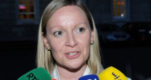 Lucinda Creighton gives an interview on the plinth outside the Dail in July after voting against one of the amendments to the Protection of Life During Pregnancy Bill. Photograph: Dave Meehan/The Irish Times