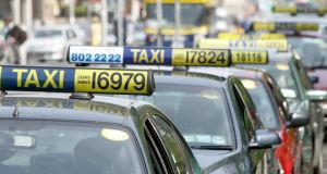 Taxi drivers are unhappy with the removal of taxi rank slots in Dublin city. Photograph: Aidan Crawley / The Irish Times