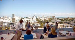 Rooftop dining at Juvia restaurant and bar