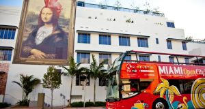 South Beach is famous for its hotels like the newly renovated Gale, a canvas for Florida-meets-Mona Lisa artwork