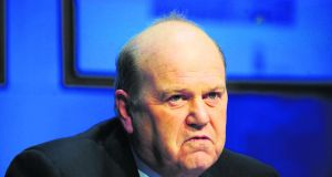 Michael Noonan: his, and the Government's, strategy appeared to evoke a wide measure of support in the newspapers. Photographer: Aidan Crawley
