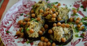 Hummus and aubergine smash
