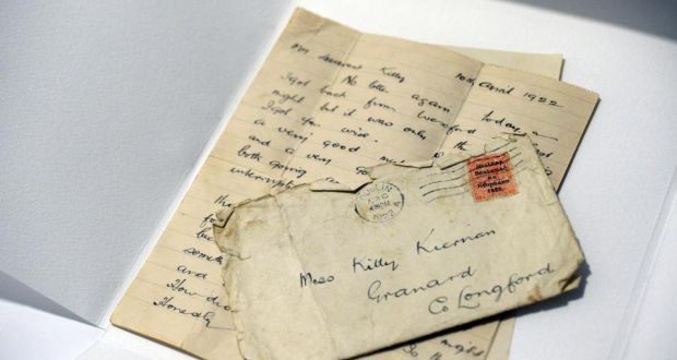 The Letter Dated April 10th 1922 To Kitty Kiernan Granard Co Longford
